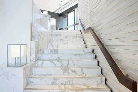Interstone marble and granite stairs